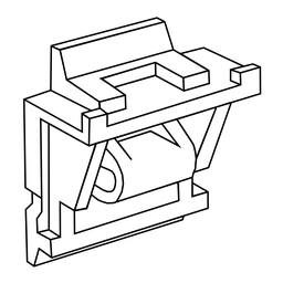 Mayer-Adaptor for mounting RH socket and termination adaptor on DIN rail-1