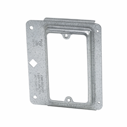 """Mayer-Eaton B-Line series box support fasteners, Provides attachment base for low voltage outlets, Single gang stud bracket, Design load capacity 0.05KN, Steel, Maximum 1/5 and 5/8"""" drywall thickness, Cover plate mounting bracket style-1"""