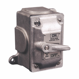 Mayer-Eaton Crouse-Hinds series Pauluhn 2100 snap switch, 20A, Copper-free aluminum, Surface mount, Single-gang, Single-pole, 250 Vac-1