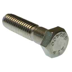 Mayer-Bolt, 3/8-16 in. size, 1-1/4 in. length, Hex head, 18-8, Stainless Steel, 100 per pack-1