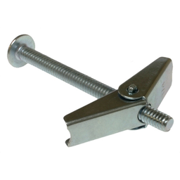 Mayer-Spring Wing Toggle Bolt, Steel material, Zinc Chromate finish, Mushroom-Truss head, 3 in. length, #10-24 Size, 3/16 in. diameter, Right Hand thread, Slot/Phillips drive type, 9/16 in. drill size, 50 per pack-1