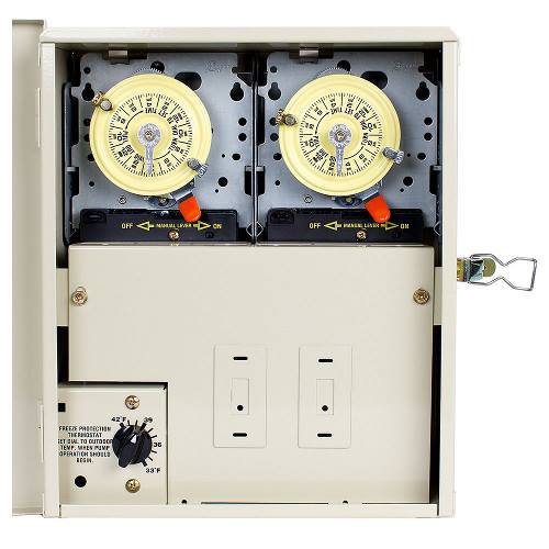 INTERMATIC Control System with Freeze Protection and Power Center with Two T104M Mechanisms