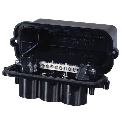 "Mayer-INT-MAT PJB2175 Plastic Pool/Spa Light Junction Box - Two Light Capacity w/conduit sizes from .5"" to 1""-1"