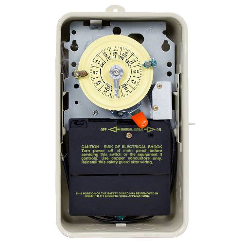 24-Hour Mechanical Time Switch in Enclosure with Pool Heater Protection