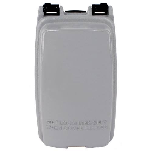 Intermatic WP1000GC 2-1/4 Deep 1-Gang Vertical Weatherproof Receptacle Cover with Duplex and GFCI Inserts