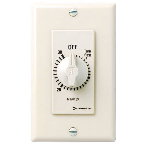 Intermatic FD30MAC 30 Minute 125 to 277 VAC 60 Hz SPST Almond Countdown Timer