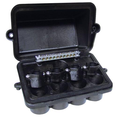 "INTERMATIC INT-MAT PJB4175 Plastic Pool/Spa Light Junction Box - 4 Light Cap. w/conduit sizes from .5"" to 1"""