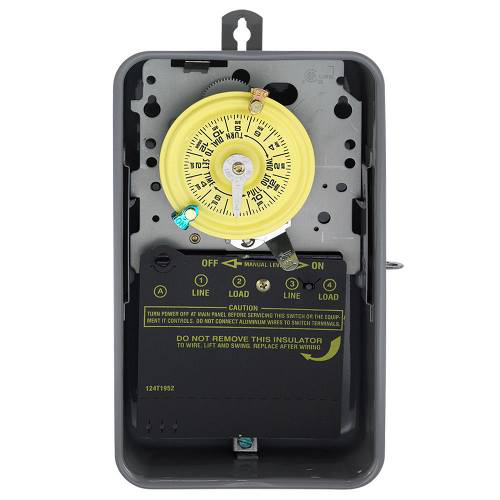 Intermatic T102R NEMA 3R Steel Case 208 to 277 VAC 60 Hz 40 Amp SPST Electromechanical Time Switch