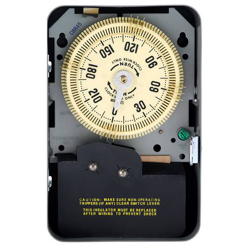Intermatic C8845 NEMA 1 125 VAC 60 Hz 20 Amp SPDT Electromechanical Time Switch