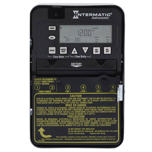 Intermatic ET8215C NEMA 1 Steel Case 7-Day 120 to 277 VAC 60 Hz 30 Amp DPST Electronic Astronomic Time Switch
