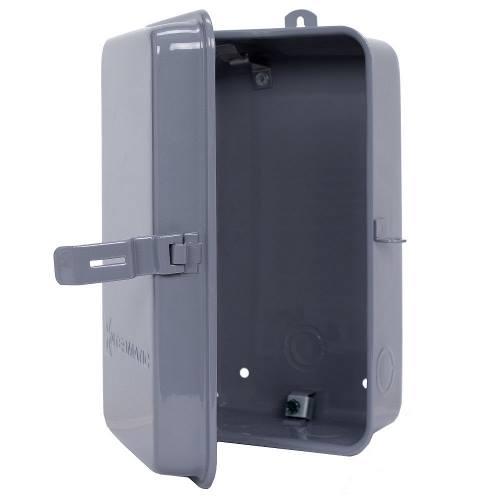 Intermatic 2T511GA NEMA 3R 10-1/8 x 6-1/2 x 3-5/8 Inch Gray Outdoor Metal Enclosure