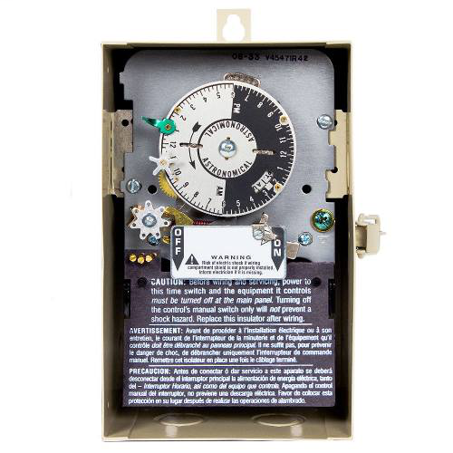 Intermatic V45471CR42 NEMA 3R Steel Case 120 VAC 60 Hz 40 Amp 3PST Electromechanical Time Switch with Carryover