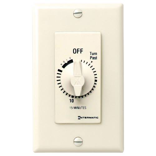 Intermatic FD15MH 15 Minute 125 to 277 VAC 60 Hz SPST Ivory Countdown Timer with 15 Minute Hold