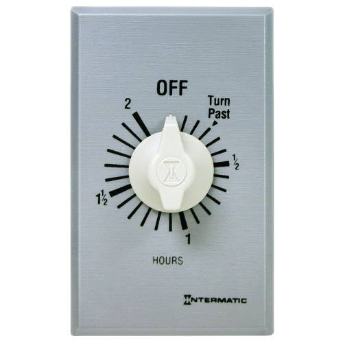 Mayer-INT-MAT FF2H 2-Hour 125-277v SPST Auto-Off Wall Timer, Brushed Metal Wallplate-1