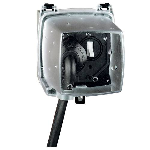 Intermatic WP1250C 2-Gang Vertical Hinge 4-3/4 Inch Receptacle Cover with Guard Insert