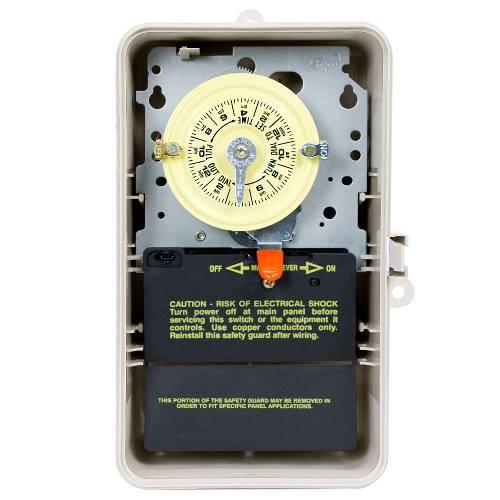 Intermatic T101P3 NEMA 3R Plastic Case 125 VAC 60 Hz 40 Amp SPST Electromechanical Time Switch