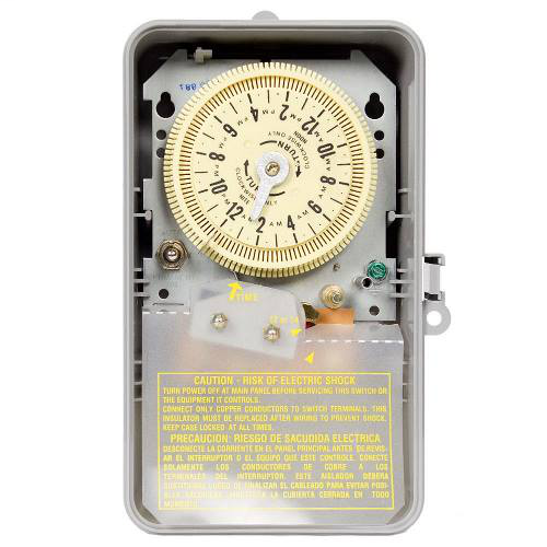 Intermatic T8805P101C NEMA 3R Plastic Case 125 VAC 60 Hz 15 Amp SPST Electromechanical Time Switch