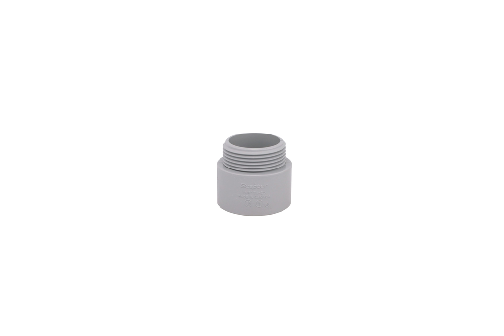 IPEX 077027 2-1/2 Inch PVC Non-Tapered Male Threaded Rigid Conduit Terminal Adapter