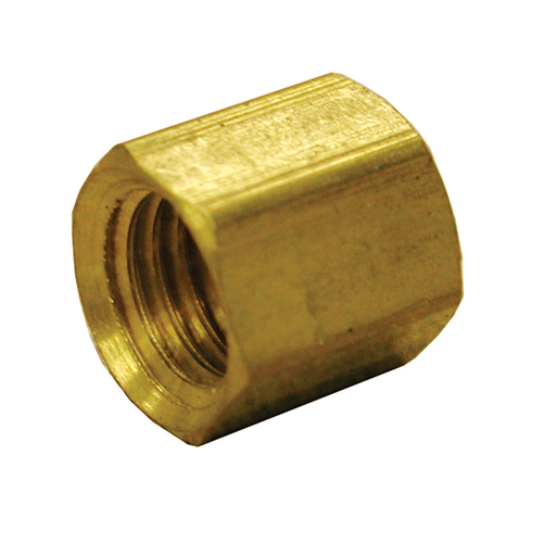 "3/8"" Brass Compression Nut, Carton of 5"