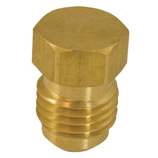 """1/4"""" Brass Flare Plug"""
