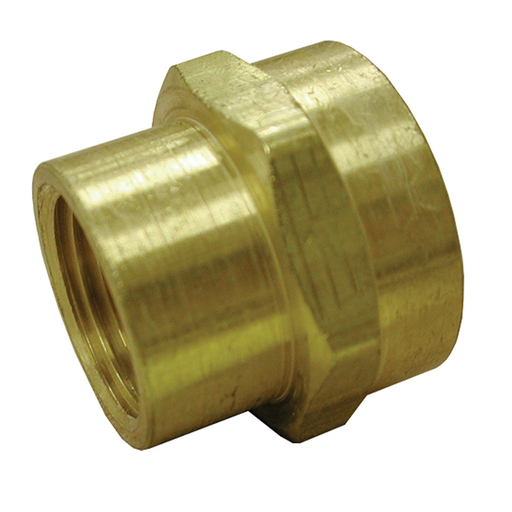 "3/4"" x 3/4"" Brass Garden Hose Fitting, Female Hose To Female Pipe, Lead Free"