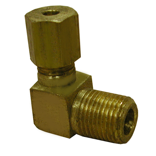 "3/8"" x 3/8"" 90° Brass Compression x Male Elbow, Lead Free"
