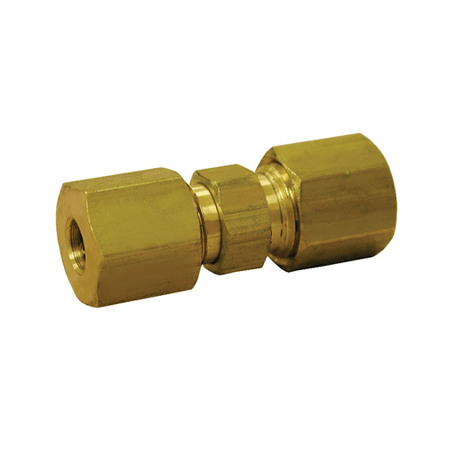 "1/4"" Brass Compression Union, Lead Free"