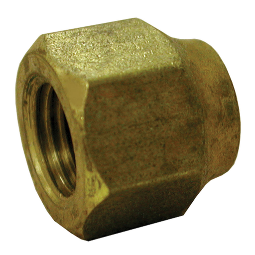 "5/8"" x 1/2"" Brass Short Forged Flare Nut"