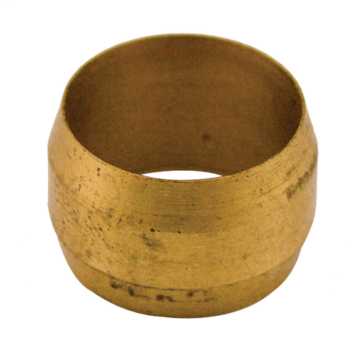 "3/8"" Brass Compression Sleeve, Carton of 5"
