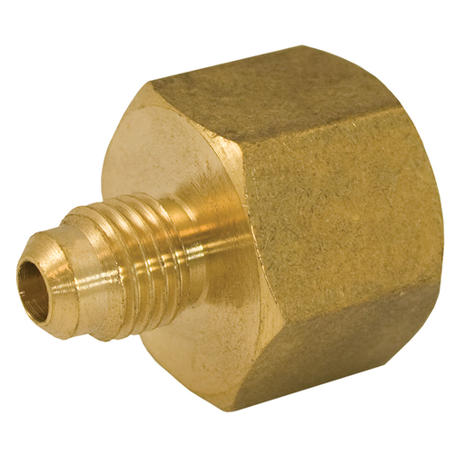 "1/2"" x 3/8"" Brass Flare x Female Coupling"