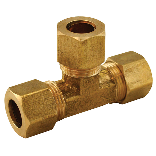 "3/8"" Brass Compression Tee, Lead Free"