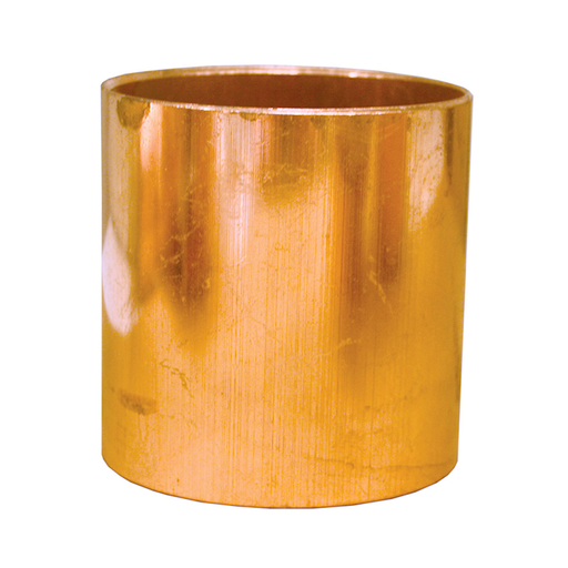 "3/4"" Wrot/ACR Solder Joint Copper Coupling (Socket) Less Tube Stop"