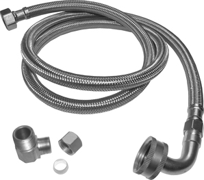 """Dishwasher Supply Line - 3/8""""x3/8""""x72"""" - Stainless Steel (KEE PP23834 3/8""""X 72"""" SS BRAIDED)"""