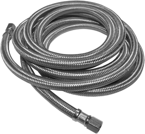 """Ice Maker Supply Hose - 1/4"""" Compression X 1/4"""" Compression X 120"""" -Stainless Steel- Lead Free (KEE PP25529 1/4""""X 120"""" SS BRAIDED)"""