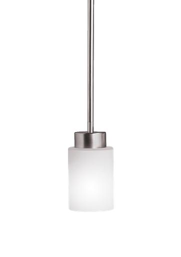 Mayer-1 Light Modena Mini Pendant - Brushed Nickel-1