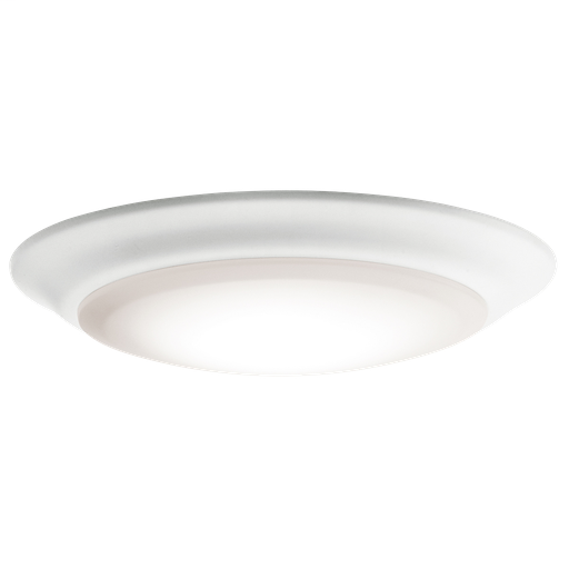 "KIC 43846WHLED30 FLUSH MOUNT 1LT LED 15W 90CRI 7.5"" DIAM 3000K *POSSIBLY REBATEABLE*"