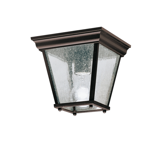 KIC 9859BK OUTDOOR FLUSH MT 1LT BLACK (PAINTED) 100W