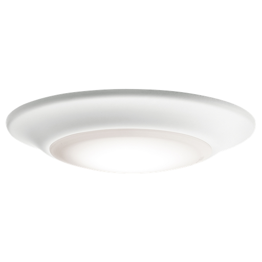 "KIC 43845WHLED30 ( DISCONTINUED ) FLUSH MOUNT 1LT LED 12W 90CRI 6"" DIAM 3000K *POSSIBLY REBATEABLE*"