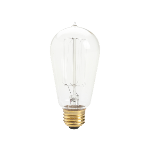 KIC 4071CLR CLEAR MED 60W 120V VINTAGE SQUIRREL CAGE FILAMENT LAMP