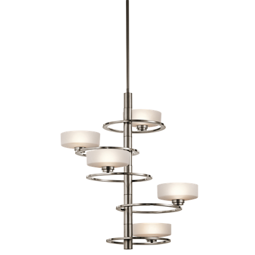 KIC 43366CLP FOYER CHANDELIER 5LT HALOGEN