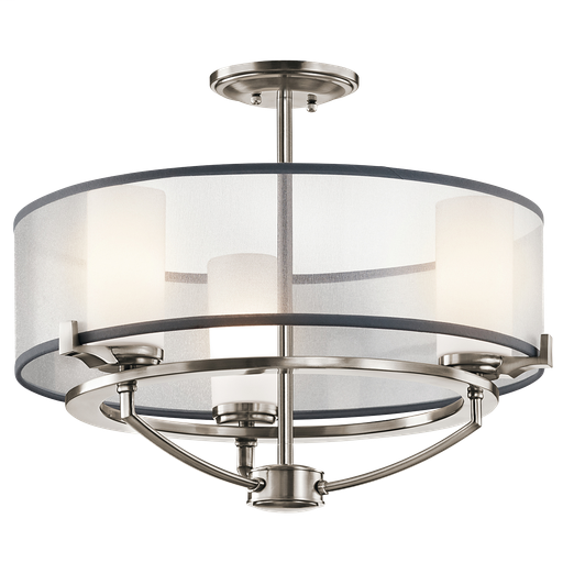KIC 42923CLP SEMI FLUSH/CHANDELIER 3LT