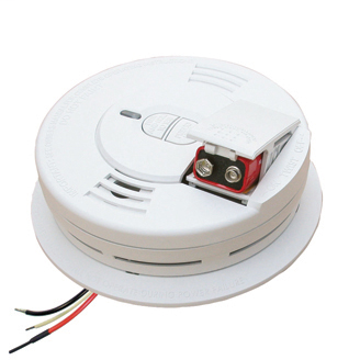 KID 21006376 I12060 120V AC/DC SMOKE ALARM 9V BATTERY