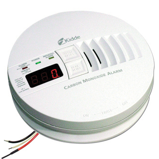 Kidde AC Hardwired Operated Carbon Monoxide Alarm with Digital Display KN-COP-IC