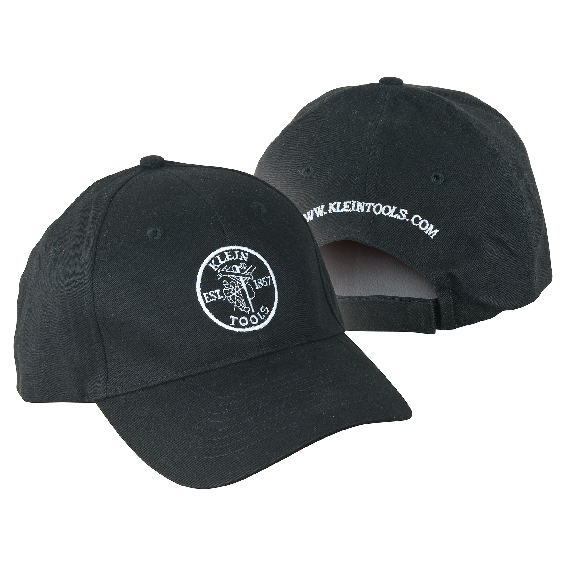 KLEIN 98341 KLEIN TOOLS BLACK HAT WITH KLEIN LINEMAN LOGO