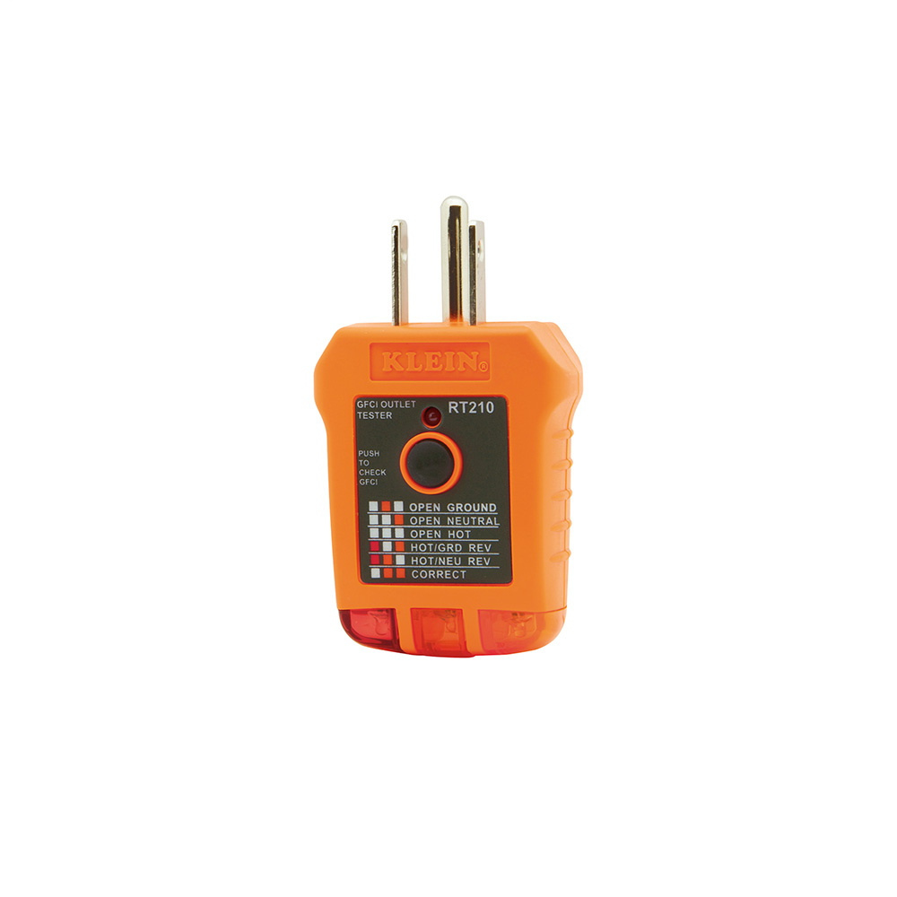 KLEI RT210 GFCI RECEPTACLE TESTER
