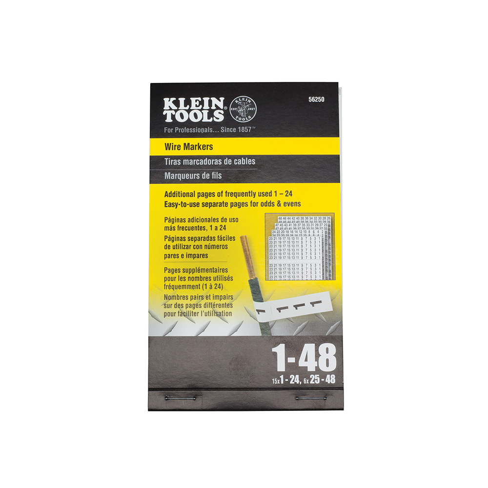 KLEI 56250 WIRE MARKERS - NUMBERS 1-48
