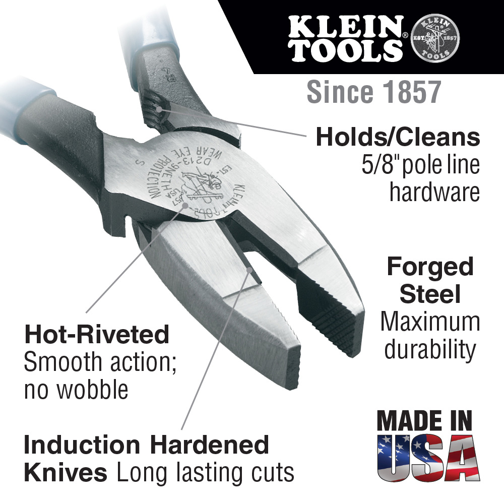 Klein Tools,HD213-9NETH,Pliers, Cutting/Bolt Thread Hold 9