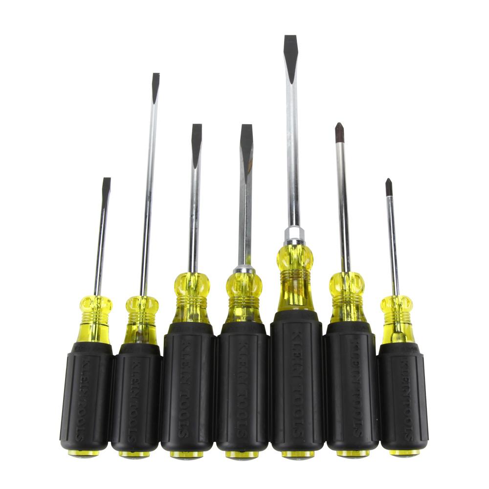Klein Tools,85076,Cushion-Grip Screwdriver Set, 7 Pc
