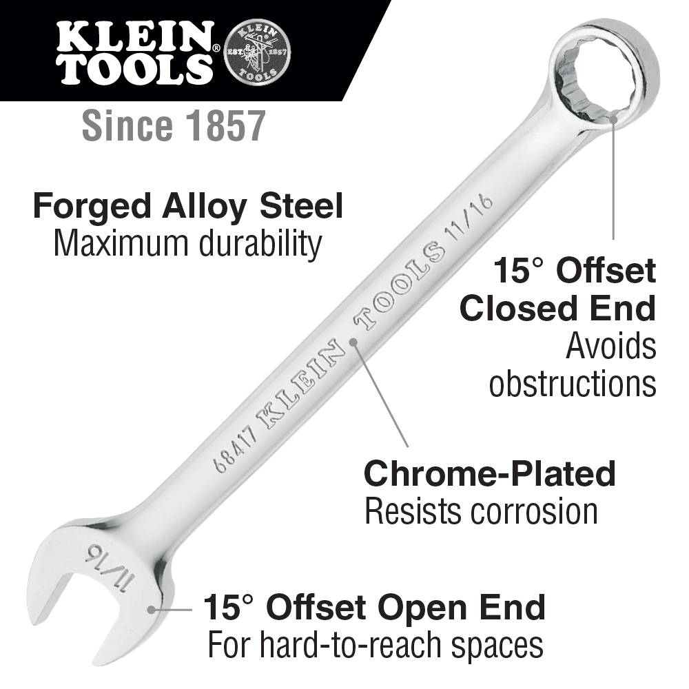 Klein Tools,68414,Combination Wrench 1/2