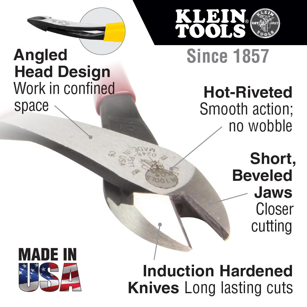 Klein Tools,D2000-48,Heavy Duty Pliers, Diagonal Cut, 8